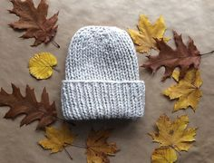 Handknitted hat made of soft wool
