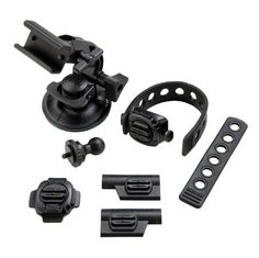 A versatile combination of #mounts for all motorsports.  Includes Rotating Flat Surface Mount, Left and Right Profile Mounts, Suction Cup Mount, Flex Strap Mount...