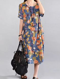 Floral Printed Round Neck Enjoy Linen Dresses summer Free Shipping $59+ & Easy Return. Up to 80% Off. First Order   5% Off Code:EB5F Casual Dresses for women casual dresses for summer casual dresses modest casual dresses boho casual dresses for work #CasualDresses #CasualDresses #casualdressesforsummer #casualdressesforschool   #casualdressesforteens #businesscasualdresses #casualdressesforwork #cutecasualdresses   #casualdressesoutfit #casualdresseskneelength