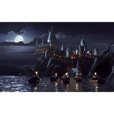 Incredibly detailed model of Hogwarts Castle used for every Harry... ❤ liked on Polyvore