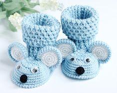 Детские пинетки, пинетки мышь,вязание крючком обувь,вязание крючком пинетки,вязание крючком пинетки для девочки и мальчика