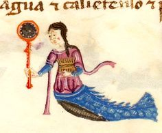 Mermaid with a mirror and comb (@GallicaBnF, Espagnol 286, 15th c.)