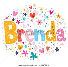 stock-vector-brenda-name-design-250408612.jpg (450×442)