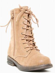 Combat Brushed #Boot in Tan