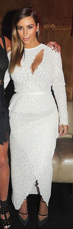 Kim Kardashian: Dress – Proenza Schouler  Shoes- Balenciaga
