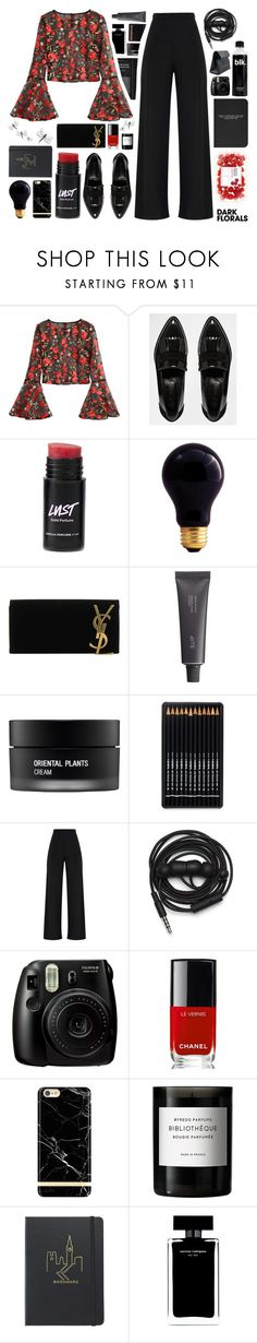 """Oh, but you can't see my lonely heart"" by pickiestpeach ❤ liked on Polyvore featuring River Island, Bulbrite, Yves Saint Laurent, Bite, Koh Gen Do, Urbanears, Fujifilm, Chanel, Richmond & Finch and Byredo"