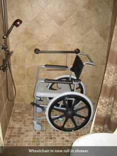 Image detail for -San Antonio Handicap ADA Ramps and Bathroom Installation 707 . Handicap Bathroom, Laundry In Bathroom, Master Bathroom, Shower Wheelchair, Handicap Accessible Home, Bathroom Installation, Shower Chair, Drawer Design, Modern Bathrooms