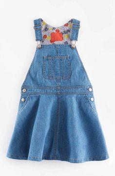 Mini Boden Overall Dress (Toddler Girls, Little Girls & Big Girls) available at #Nordstrom