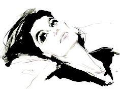 wonderful fashion illustration by the brilliant David Downton - model, Anouk
