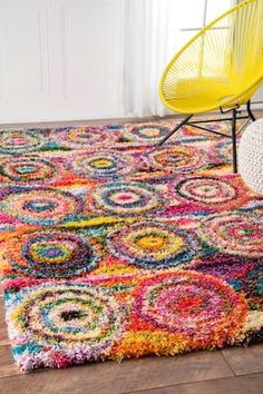 Rugs USA Multi Radiance Abstract Circles rug - Bohemian Rectangle x Boho Decor, Bohemian Rug, Circle Rug, Rectangular Rugs, Rugs Usa, Contemporary Home Decor, Rug Hooking, Modern Rugs, Rugs In Living Room