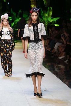Hailey Baldwin Makes Her Dolce & Gabbana Runway Debut via @WhoWhatWear