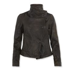 This asymmetrical leather bomber is great.... All Saints