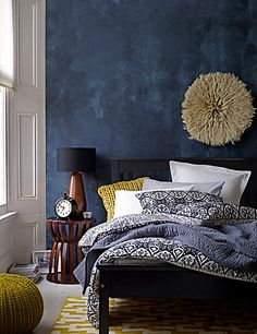 Black/white Tribal Ikat Print Bedding Set Home