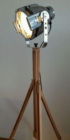 Designerlampe industrial Design Spot Tripod Dreibein in Möbel & Wohnen, Beleuchtung, Lampen | eBay