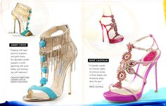 The Art of the #Shoe, Sketches by @JimmyChoo and @ReneCaovilla @NeimanMarcus #FashionIllustrated