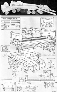 Wooden Toy Car Carrier Plans - Wooden Toy Plans and Projects | WoodArchivist.com