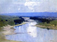 "Arthur Streeton - Australian (1867 - 1943), landscape painter and leading member of the Heidelberg School, also known as Australian Impressionism. ""The Athenaeum - The River"""