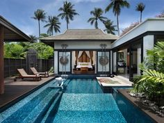 """Amazing private hotel pools: """"Anantara"""" Phuket, Thailand - A private pool, alfresco tub and outdoor dining area make each of the 83 suites at this lavish resort feel VIP. The daily tropical fruit delivery won't exactly make your feel like a schlub either."""