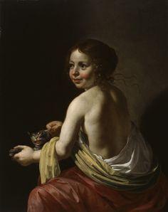 Girl Teasing a Cat, c.1630 by Jan van Bijlert (Dutch, c.1597–1671)
