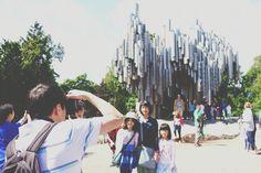 Sibelius monument . Helsinki . Finland