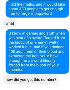 Blood of the enemy..
