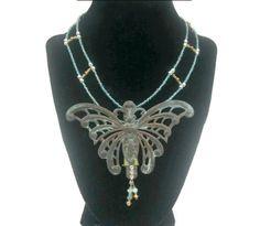 Steampunk Butterfly Necklace - Steampunk Jewelry #steampunkbeadery @TheCraftStar