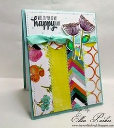 Handmade card by Ellen Parker using the Happy Place set from Verve. #vervestamps