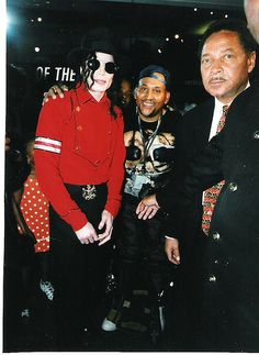 Michael Jackson, not sure who the other men are tho.