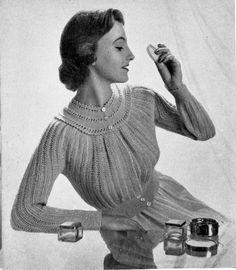 FREE PATTERN 1950's Knitting - Phyllis Bed Jacket