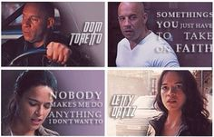 Dom's and Letty's quotes
