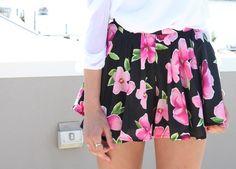 floral skirt #fashion #skirt