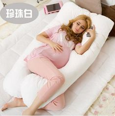 Baby Bedding Pillow Lower Price with Sleeping Support Pillow For Pregnant Women Body 100% Cotton Rabbit Print U Shape Maternity Pillows Pregnancy Side Sleepers To Help Digest Greasy Food