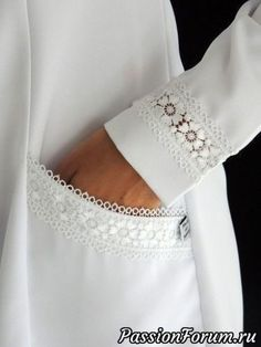 New Dress White Lace Fashion Details Ideas Kurti Sleeves Design, Sleeves Designs For Dresses, Sleeve Designs, Kurta Designs, Blouse Designs, Costura Fashion, Mode Hijab, Fashion Sewing, Dress Fashion