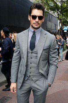 Wearing @Thom_Sweeney suit today at #LCM: Shirt: Eton | glasses: @BaileyNelson_Uk | Photo: getty