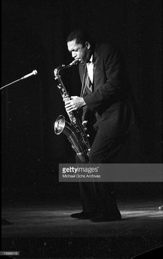 Jazz saxophonist John Coltrane performs onstage in circa 1959 in West Germany.