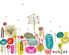 wallpaper by Carolyn Gavin (ecojot) #florals #papers
