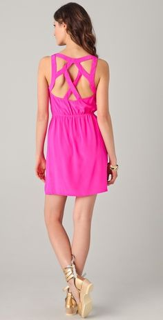 can't go wrong with the hot pink Charlie Jade dress. throw on some turquoise earrings and you're good to go
