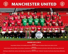 Manchester United zdjęcie drużynowe 13/14 - plakat - 50x40 cm  Gdzie kupić? www.eplakaty.pl