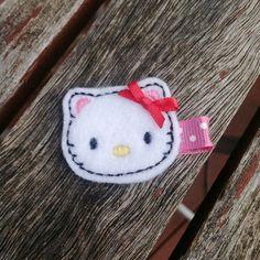 Kitty  Felt Hair Clip by topknots on Etsy, $3.00