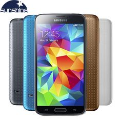 "Unlocked Original Samsung Galaxy S5 i9600 Mobile Phone WIFI Quad Core 5.1"" 16MP NFC  Android Smartphone Refurbished Phone"