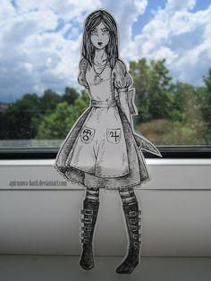 Alice Madness Returns  #Basti_A #artist #paper #art #creative  #paper #child #Alice #in #Wonderland