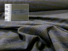 Stripe Single Jersey Merino, 12.5mm, Kalamata/Dark Charcoal/Grey Marl, Levana Textiles Factory Shop, Made in New Zealand