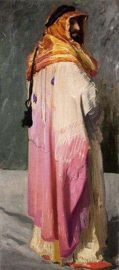 Portrait of Feliks Jasieński in arabian costume by Leon Wyczółkowski, ca. 1908 (PD-art/80), Muzeum Narodowe w Krakowie (MNK)