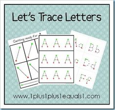 Letter Tracing Bundle...  links are available to get individual letter tracing sheets for free also!