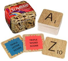 Coaster Set . . . Cute but too bad these are two complete alphabets instead of the 100 letters needed for a game!