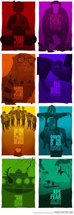 Movie posters with one letter removed.