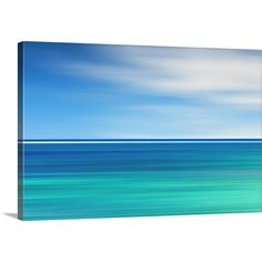 Beach Canvas Large Wall Art Abstract Photography Teal Blue Aqua... (265 CAD) ❤ liked on Polyvore featuring home, home decor, wall art, home & living, home décor, light purple, wall décor, wall hangings, flower wall art and ocean paintings
