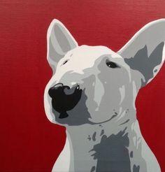 Bull Terrier Funny, Fox Terrier, Bull Tattoos, English Bull Terriers, Dog Paintings, Dog Portraits, Bullies, Dog Art, Animal Pictures