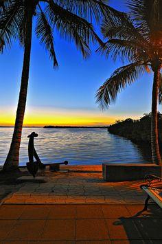 Beautiful sunset at Matlacha, Florida