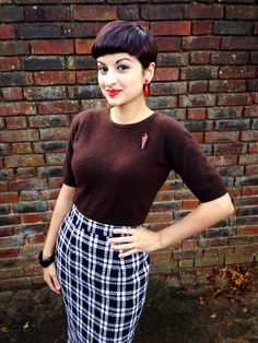 Looking very elegant in our Pencil Skirt, perfect for teaming with knitwear during the colder months! http://www.vivienofholloway.com/#VivienofHolloway #VivienHolloway #VoH #Vintagereproduction #madeinlondon #1950sstyle #1950sfashion #1950s #1950sglamour #pinupgirl #pinup #rockabilly #rockabillygirl #rockabillyclothing #pinupfashion #1950spencilskirt #pencilskirt